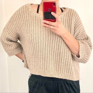 Victorias Secret Chunky Cableknit Cropped Sweater